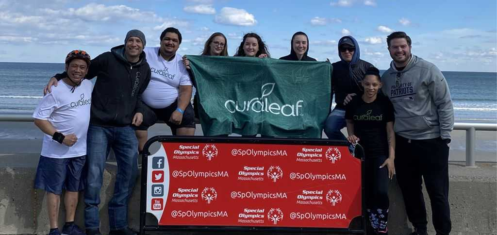 Team members from Hanover, Oxford and Provincetown came together to do the Polar Plunge on Nantasket Beach and raised over $4000 for the Special Olympics.